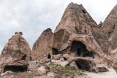 """Постер, картина, фотообои """"Величественные пещеры в известняках на известных Каппадокии, Турция"""""""