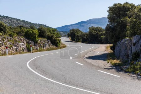Photo for Empty winding road in beautiful mountains, provence, france - Royalty Free Image
