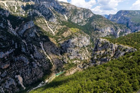 Photo for Aerial view of beautiful mountains and canyon of Verdon River, Provence, France - Royalty Free Image