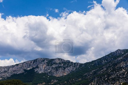 Photo for Picturesque rocky mountains and blue sky with clouds, provence, france - Royalty Free Image
