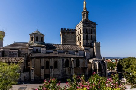 Photo for Old historic abbey at sunny day in provence, france - Royalty Free Image