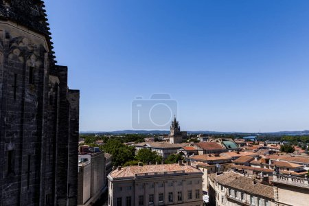 Photo for Historic houses and panoramic Avignon cityscape, provence, france - Royalty Free Image