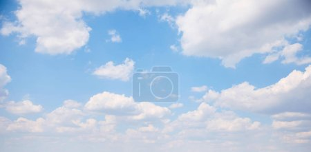 Photo for Panoramic view of beautiful blue sky with white clouds - Royalty Free Image