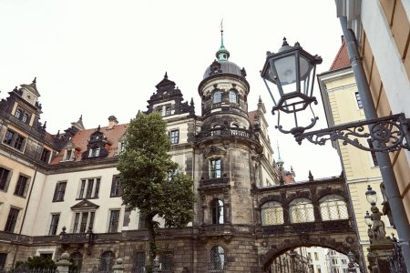 Photo for Low angle view of old historical church, arch and lantern in Dresden, Germany - Royalty Free Image