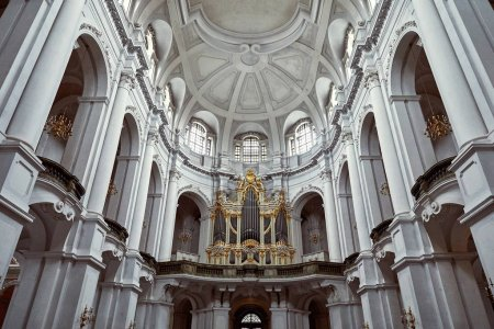 Photo for GERMANY, DRESDEN - 26 JUNE 2018: pipe organ in old dresden cathedral - Royalty Free Image