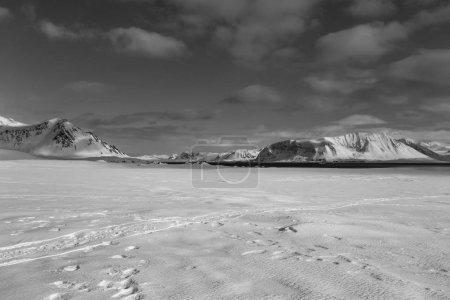 Photo pour Superbe image d'un paysage enneigé glacé - image libre de droit