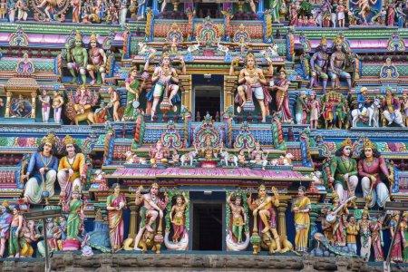 Sculptured facade of the Kapaleeshwarar Temple, Mylapore, Chennai, Tamil Nadu