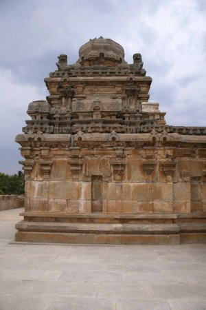 A typical Dravidian style shrine at Panchakuta Basadi or Panchakoota Basadi, Kambadahalli, Mandya district, Karnataka India It is one of the finest examples of South Indian Dravidian architecture of the Western Ganga variety, related to the Jain fait