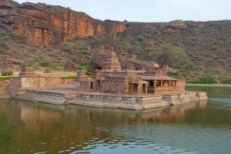 Vue du Temple 1, temple de Bootnatha ou Bhutanatha, Agastya lac, Badami, Karnataka, Inde
