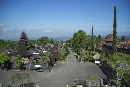 Capmus of Pura besakih temple, Indonesia. Temple complex in village of Besakih on the slopes of Mount Agung in eastern Bali. It is the most important, the largest and holiest temple of Hindu religion