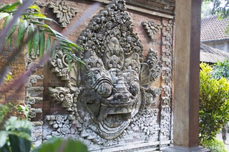 Sculpture in Ubud palace, Indonesia. The palace is the official residence of the royal family of Ubud.