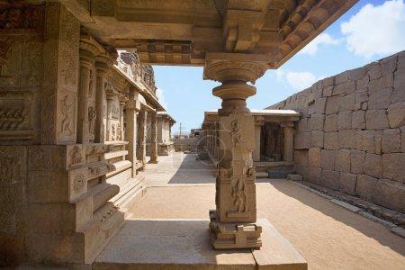 Architecture details of the Hampi world heritage site, Hampi, Karnataka.