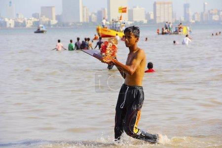 MUMBAI, MAHARASHTRA, September 2017, Young boy tak...