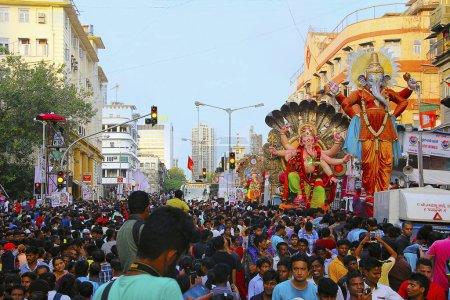 MUMBAI, INDIA, September 2017, People at Ganapati ...