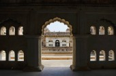 Interior view of Raj Mahal. Orchha Palace Fort Complex. Orchha. Madhya Pradesh. India