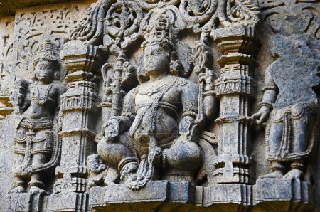 Beautifully carved idol of God, Vitthal Temple, Kolhapur, Maharashtra.