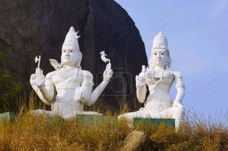 Seigneur Shiva et Parvati, Temple de Bhadrakali, Warangal, Telangana