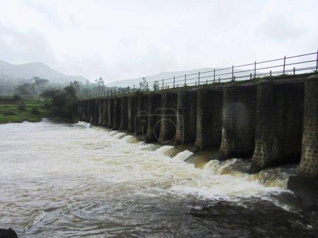Bridge on Kanandi river near Balaji Resort at Velhe in Monsoons, Pune district, Maharashtra.