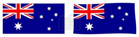 Bandera de la Mancomunidad de Australia. Versi simple y ligeramente ondulante