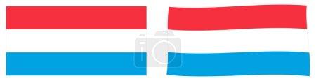 Gran Ducado de Luxemburgo. Versi simple y ligeramente ondulante