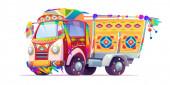 Jingle truck Indian or Pakistan ornate transport
