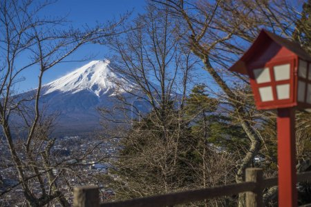 Fuji mountain with Red Chureito Pagoda