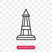 Obelisk vector icon isolated on transparent background Obelisk logo design