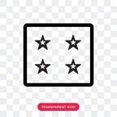 Ice cube tray vector icon isolated on transparent background Ic