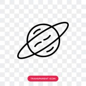 Saturn vector icon isolated on transparent background Saturn lo