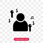 Singer vector icon isolated on transparent background Singer lo