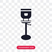 Stool vector icon isolated on transparent background Stool logo