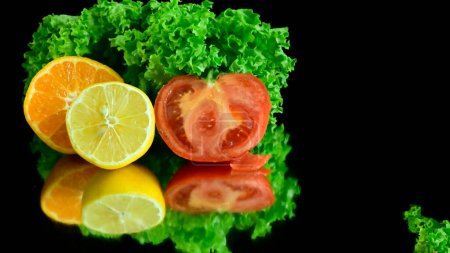 Photo for Set of fresh ripe vegetables  healthy food concept - Royalty Free Image