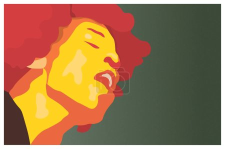 Street Art Jimi Hendrix in