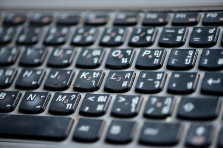 Photo for Computer keyboard buttons background - Royalty Free Image