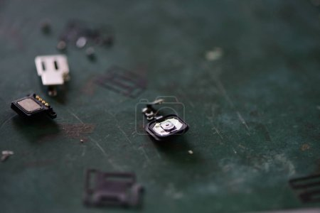 Photo for Chips of broken mobile phone - Royalty Free Image