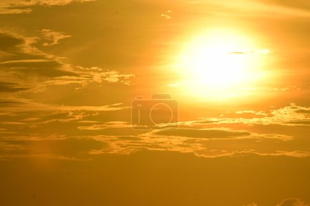 Photo for Beautiful nature scenic view sunset in the sea - Royalty Free Image