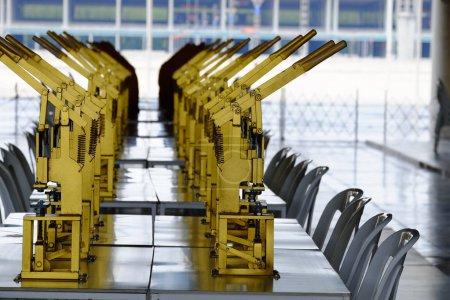Photo pour Le gros plan du matériel d'usine moderne - image libre de droit