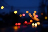 blurred city lighting as background