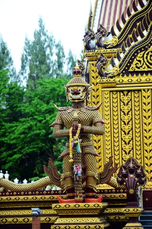 Photo for Thai temple and Buddha statue - Royalty Free Image