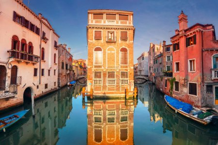 Photo for Venice. Cityscape image of narrow canals in Venice during sunset. - Royalty Free Image