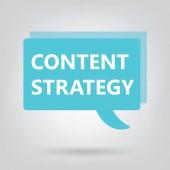 content strategy written on speech bubble- vector illustration