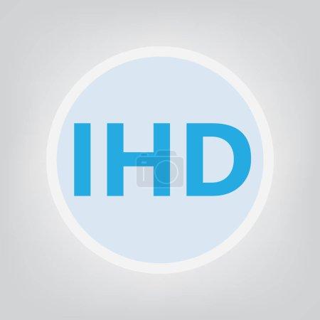 Illustration pour Illustration vectorielle de l'IHD (cardiopathie ischémique) - image libre de droit
