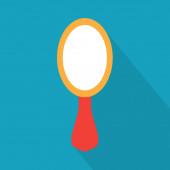 beauty mirror icon- vector illustration