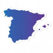 gradient Spain map- vector illustration