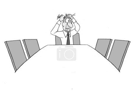 Photo pour Le chef d'équipe est seul à la réunion - image libre de droit