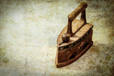 Photo for Stylish old iron on a white background - Royalty Free Image