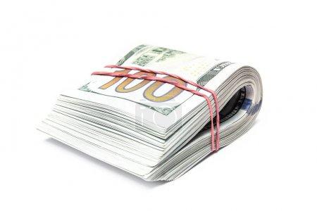 Photo pour Argent dollar Business sur fond blanc - image libre de droit