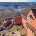 Panoramic photo. Latvia, Ancient Turaida castle in...