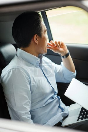 Photo for Young businessman in the car - Royalty Free Image