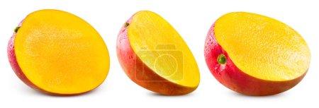 Photo for Mango fruit collection isolated on white background. Mango Clipping Path - Royalty Free Image